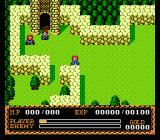 Ys II: Ancient Ys Vanished - The Final Chapter NES Starting the game