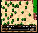Ys II: Ancient Ys Vanished - The Final Chapter NES In a small forest