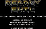 Deadly Evil Commodore 64 Title Screen