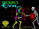 Deadly Evil ZX Spectrum Loading Screen