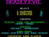 Deadly Evil ZX Spectrum Title Screen
