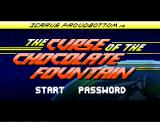 Icarus Proudbottom & the Curse of the Chocolate Fountain Windows Title and main menu