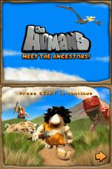 The Humans: Meet the Ancestors! Nintendo DS Title screen.