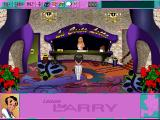 Leisure Suit Larry 6: Shape Up or Slip Out! DOS Starting location. Note the different interface layout (high-resolution CD version)