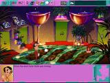 Leisure Suit Larry 6: Shape Up or Slip Out! DOS High-resolution mud bath shot for area comparison. Colors and proportions seem different, too - compare to the low-res shot of the same place (high-resolution CD version)