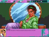 Leisure Suit Larry 6: Shape Up or Slip Out! DOS Close-up on Shablee. Using an unrelated item on her and getting a unique comment (high-resolution CD version)
