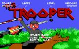 The Trooper DOS Title screen