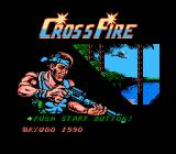 CrossFire NES Game's title screen