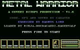Metal Warrior Commodore 64 Title screen