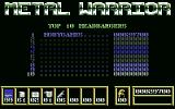 Metal Warrior Commodore 64 Top 10 headbangers