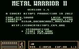 Metal Warrior II Commodore 64 Title and options (v1.5)