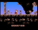 Puggsy Amiga DIAMOND MINES - surrounded by enemies