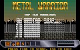 Metal Warrior: Hessian Adventure in Dismal Future Amiga Top ten warriors