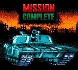 World Destruction League: Thunder Tanks Game Boy Color Mission complete.