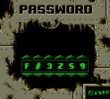 World Destruction League: Thunder Tanks Game Boy Color Password.