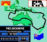 F1 Racing Championship Game Boy Color Circuit introduction.