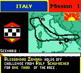 "F1 Racing Championship Game Boy Color Arcade - Mission mode ... ""Try not to be overtaken by your pursuer for at least 2 laps..."""