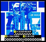 F1 Racing Championship Game Boy Color A Formula One podium.