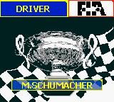 F1 Racing Championship Game Boy Color World Champion. Michael Schumacher.
