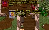 Ultima VII: The Black Gate DOS The gargoyles are back and (now) friendly. They have trouble conjugating verbs, however. Displaying a typical dialogue tree