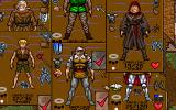 Ultima VII: The Black Gate DOS Your character screens superimposed over each other