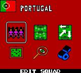 UEFA 2000 Game Boy Color Edit squad, formation, positions, strategy, view rival squad... and start!