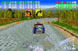 Colin McRae Rally 2.0 Game Boy Advance Checkpoint on the next stage