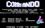 Commando PC Booter title screen