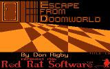 Escape from Doomworld Atari 8-bit Intro screen