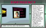 3-D Body Adventure DOS In the Emergency game, we first have to interview the patient...