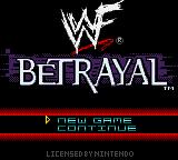 WWF Betrayal Game Boy Color Title screen.