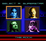 WWF Betrayal Game Boy Color Select a Superstar.