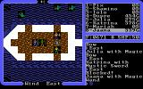 Ultima IV: Quest of the Avatar DOS Ship battle! Just shoot your projectiles at those aquatic monsters