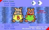 Hamsters' Adventure! DOS Main menu (unregistered shareware version)