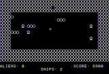 Space Caverns Apple II Obstacles appear