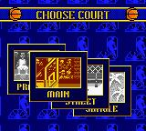 NBA Showtime: NBA on NBC Game Boy Color Exhibition. Choose court.