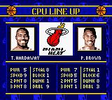 NBA Showtime: NBA on NBC Game Boy Color CPU Line up.