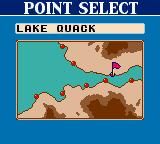 Bass Masters Classic Game Boy Color Area: Lake quack. Now let's select the point.