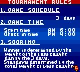 Bass Masters Classic Game Boy Color Some rules.