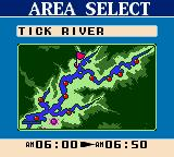 Bass Masters Classic Game Boy Color Area select.