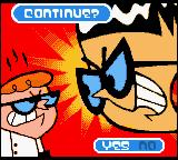 Dexter's Laboratory: Robot Rampage Game Boy Color Continue? NO.