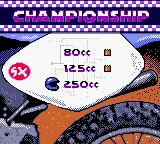 Jeremy McGrath Supercross 2000  Game Boy Color Championship. 80cc and 125cc = piece of cake.