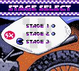 Jeremy McGrath Supercross 2000  Game Boy Color Stage select.