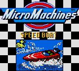 Micro Machines 1 and 2: Twin Turbo Game Boy Color Challenge mode. Qualifying race.