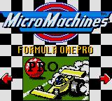 Micro Machines 1 and 2: Twin Turbo Game Boy Color Formula One Pro.
