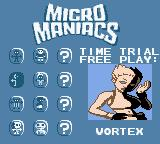 Micro Maniacs Game Boy Color Character selection.