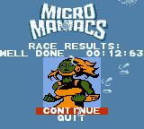 Micro Maniacs Game Boy Color Well done.