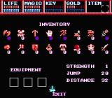 Legacy of the Wizard NES Choosing your stuff before you embark on the journey
