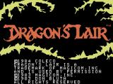 Dragon's Lair Coleco Adam Title screen 2