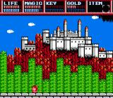 Legacy of the Wizard NES Far away, you see a castle